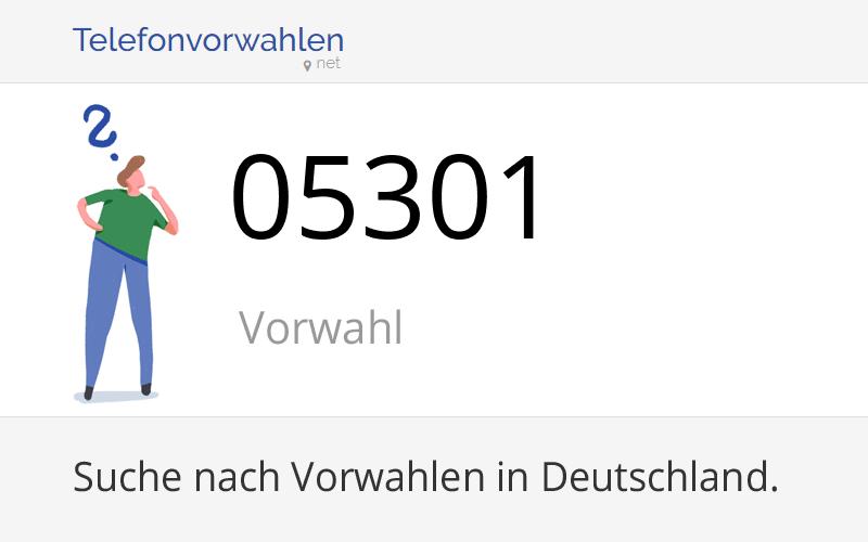 05301 Vorwahl, Ortsvorwahl 05301 auf Telefonvorwahlen.net