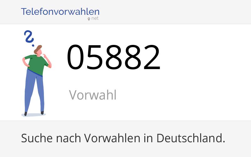 05882 Vorwahl, Ortsvorwahl 05882 auf Telefonvorwahlen.net