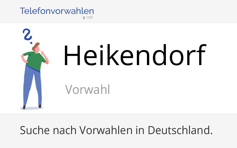 Vorwahl Heikendorf, Telefonvorwahl von Heikendorf (Gemeinde)