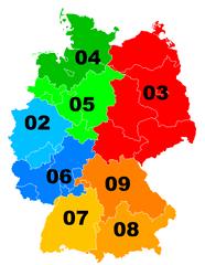 Telefonvorwahlbereiche Deutschland